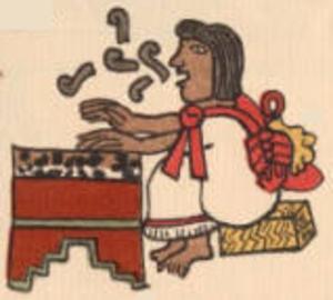 Huehuetl - Image: Huehuetl Codex Magliabecchi page 060