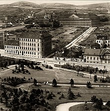 Hugo-Wolf-Park in Wien (Döbling) um 1920 (Quelle: Wikimedia)
