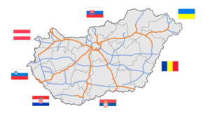 Roads in Hungary - Image: Hungary motorway system 2016 08 05