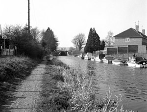 Black and white photograph of the lock from the east side.