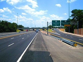 Interstate 10 in Florida - I-10 west in Tallahassee