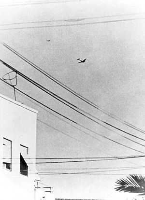 Modi Alon - Modi Alon's Avia S-199 pursuing an Egyptian Dakota over Tel Aviv, 3 June 1948