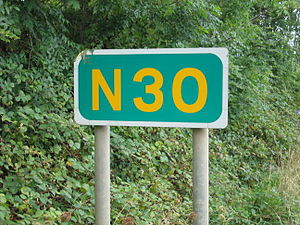 N30 road (Ireland) - Route marker