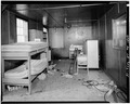 INTERIOR, BEDROOM, SOUTHWEST CORNER OF BUILDING - F. E. Booth Company Pier, Bolinas, Marin County, CA HABS CAL,21-BOLI,1-15.tif