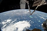 ISS-56 SpaceX CRS-15 and the ISS orbit above the Bahamas.jpg