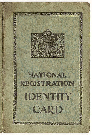 Identity Cards Act 2006 - A mid-20th century ID card