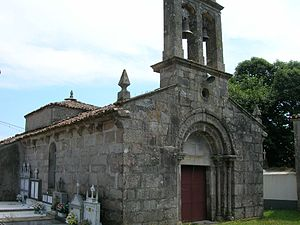 Palas de Rei - Church of Santiago de Albá.