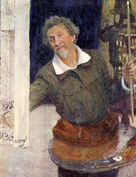 File:Ilya Repin self-portrait at work.jpg