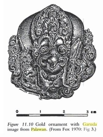 Image of golden Garuda of Palawan