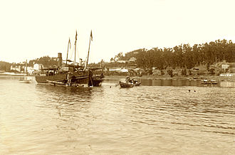 Douro - A 1908 image of boats along the Douro River