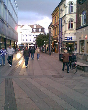 Immervad - Immervad towards Lille Torv with Magasin du Nord to the left