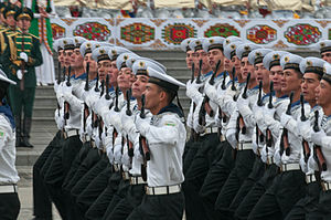 Turkmen Naval Forces - Sailors during a parade in 2011