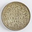 India 1 rupee 1884 Victoria (reverse)