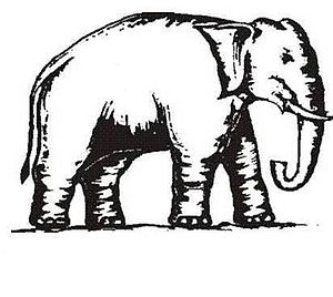 Uttar Pradesh Legislative Assembly election, 2017 - Image: Indian Election Symbol Elephant