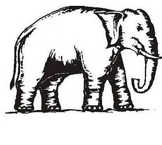 Uttar Pradesh Legislative Assembly election, 2012 - Image: Indian Election Symbol Elephant