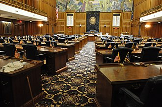 Indiana General Assembly - Image: Indiana House of Representatives Chamber, Indiana Statehouse, Indianapolis, IN