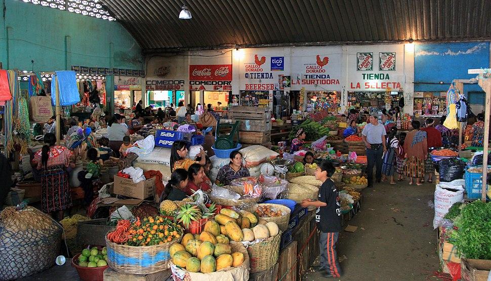 Indoor market zunil guatemala