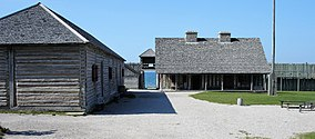 View from inside Fort Michilimackinac