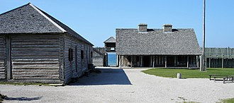 Fort Michilimackinac State Park - Image: Inside fort michilimackinac 20060915