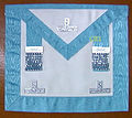 Installed Master Freemason apron.jpg