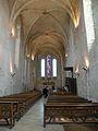Interior of Abbaye de Saint-Jean-aux-Bois nef.JPG
