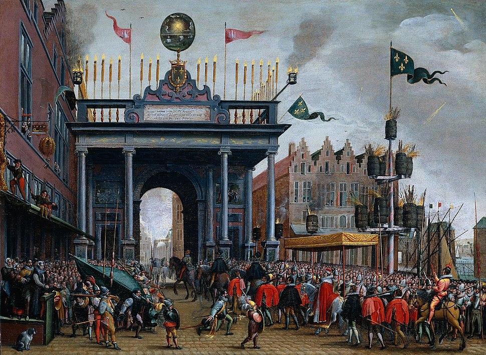 Intocht hertog van Anjou in Antwerpen