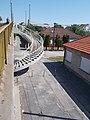 Ipar street overpass bridge, spiral stairs, 2018 Győr.jpg