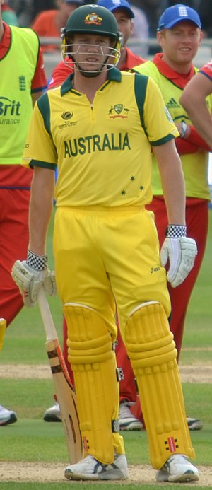 James Faulkner (cricketer) - Faulkner during Australia vs England in ICC Champions Trophy 2013