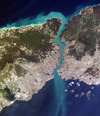 The Bosphorus, taken from the International Space Station Istanbul and Bosporus big.jpg