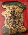 Italia centro-settentrionale, targa da armare, 1480-1500 ca., legno, pergamena, pastiglia.JPG