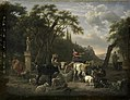 Italiaans landschap met herders en vee bij een drenkplaats Rijksmuseum SK-C-292.jpeg