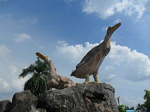 South Kalimantan - Alabio Duck Monument in Amuntai Town.