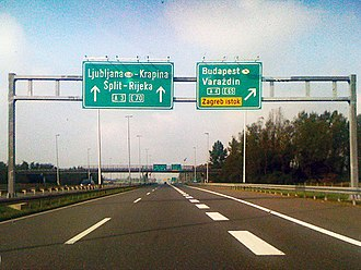 European route E70 - E 70 (national motorway A 3) in Croatia.