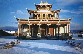 Buddhist university monasteries in the tibetan tradition of Gelukpa located throughout Mongolia, Tibet and Siberia