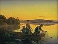 Jørgen V. Sonne - En gammel fisker der om aftenen sætter sine garn ud - KMS450 - Statens Museum for Kunst.jpg