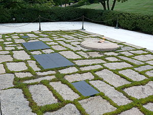 English: J.F. Kennedy family graves and Eterna...