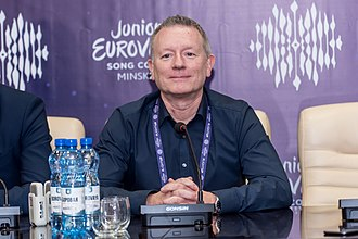 Jon Ola Sand - Sand in Minsk, during a press conference for the Junior Eurovision Song Contest 2018