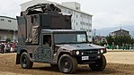 JGSDF High Mobility Vehicle(06-7523) with shelter of JMRC-C6-B right front view at Camp Itami October 9, 2016.jpg