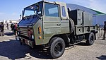 JGSDF Type 73 chugata truck(81-0132) with Type 94 Decontamination equipment left front view at JASDF Komaki Air Base February 23, 2014 01.jpg