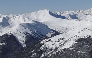 Jacque Peak - Image: Jacque Peak viewed from Peak 8