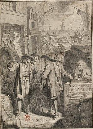 Jacques Savary - Jacques Savary, Le Parfait Negociant, frontiscipe, 1675.