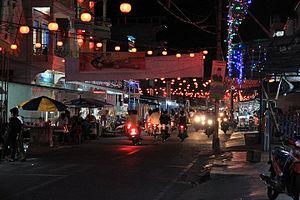 Selat Panjang - Night streetview of Selat Panjang