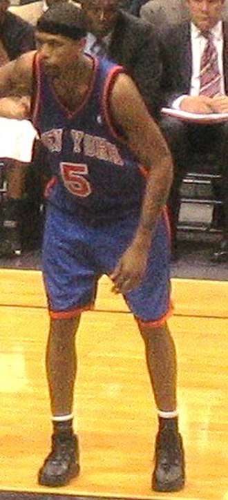 Jalen Rose - Rose in 2006 as a member of the New York Knicks.