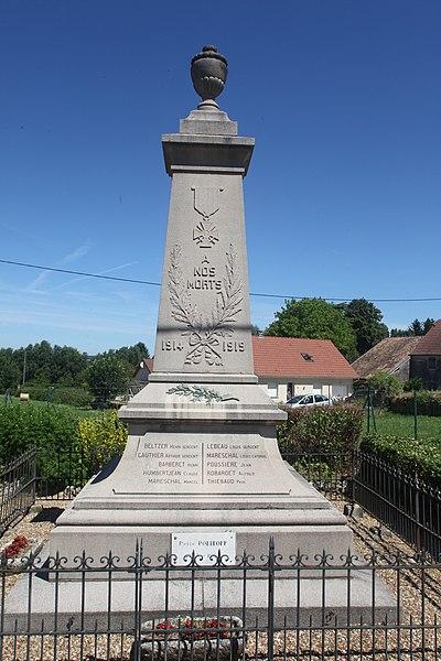 Monument aux morts de Jallerange (Doubs).