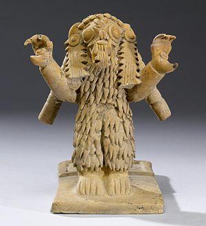 Pre-Columbian Ecuador - Jama-Coaque figurine, 300 BC-AD 600.