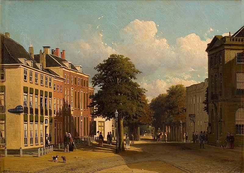 File:Jan Weissenbruch - Gezicht op het Korte Voorhout te 's-Gravenhage - 0149 - Rijksmuseum Twenthe.jpg