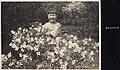 Japanese girl surrounded by Azaleas flowers (1914 by Elstner Hilton).jpg