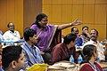Jarugumilli Kedareswari - Meeting with Pramod Kumar Jain - VMPME Workshop - Science City - Kolkata 2015-07-16 9099.JPG