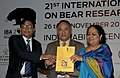 Jayanthi Natarajan releasing the National Bear Action Plan, at the 21st International Conference on Bear Research and Management, in New Delhi on November 26, 2012.jpg