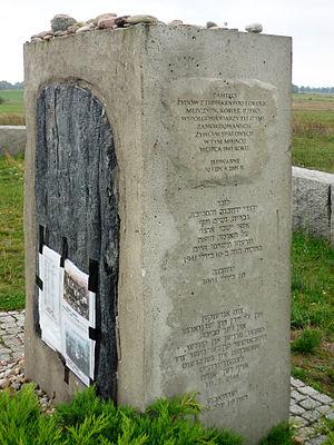 Jedwabne pogrom - Pogrom memorial in Jedwabne